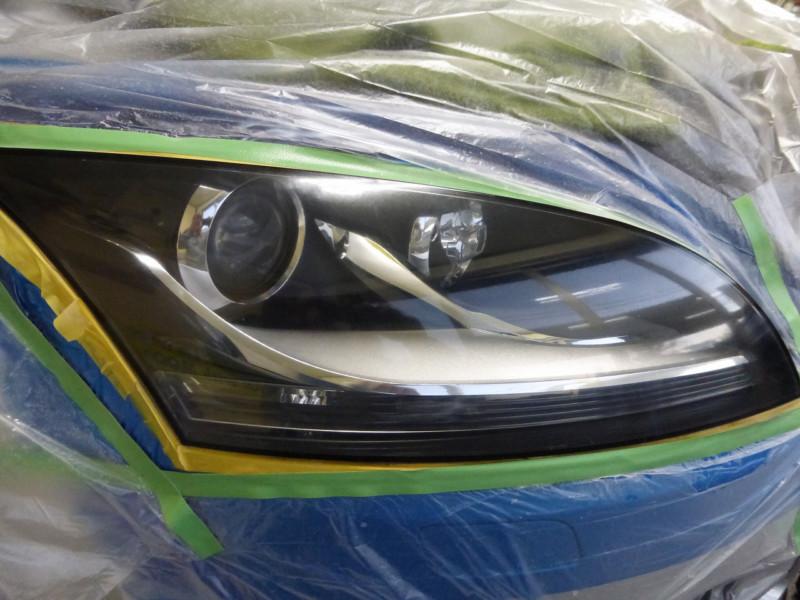 アウディTT ヘッドライト磨きとガラスリペア【つくばみらい市】
