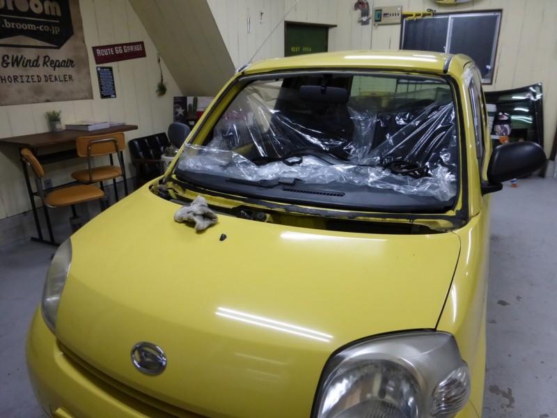 軽自動車のフロントガラス交換 3台まとめて【取手市・つくばみらい市・守谷市】