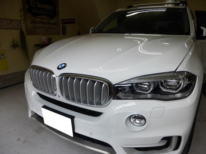 BMW X5リアドアのデントリペア【つくば市】