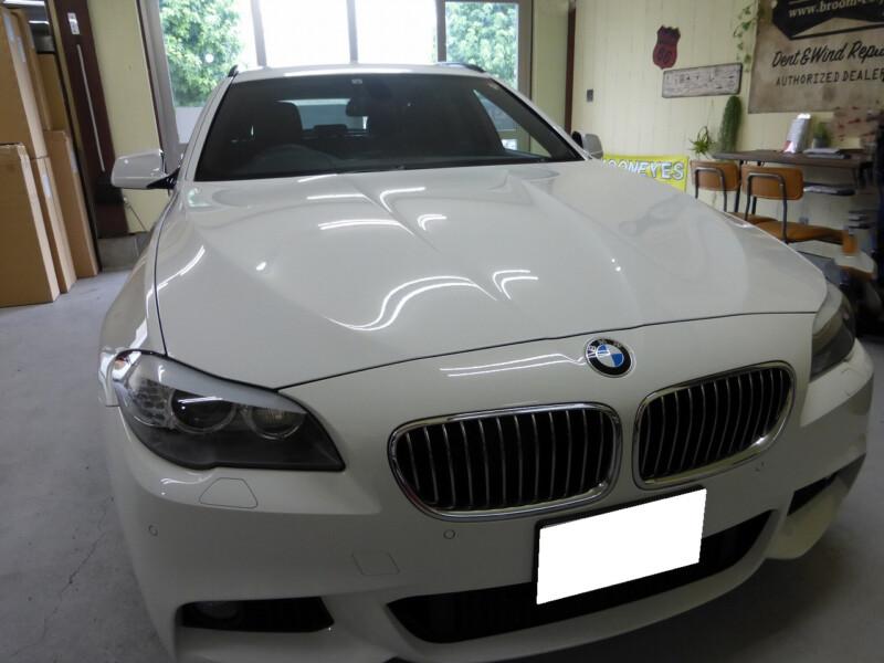飛び石ヒビの修理BMW 5シリーズ他【つくば市・取手市・守谷市】