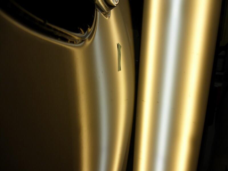 ワゴンR 運転席ドアの4ヵ所のヘコミをデントリペア【牛久市】