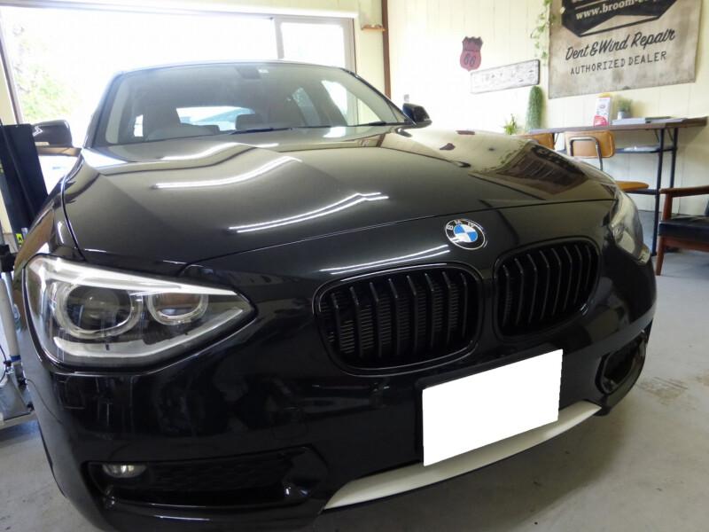 BMW 1シリーズ フロントドアのデントリペア【牛久市】